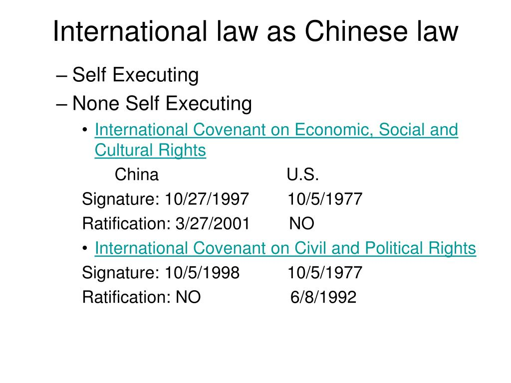International law as Chinese law