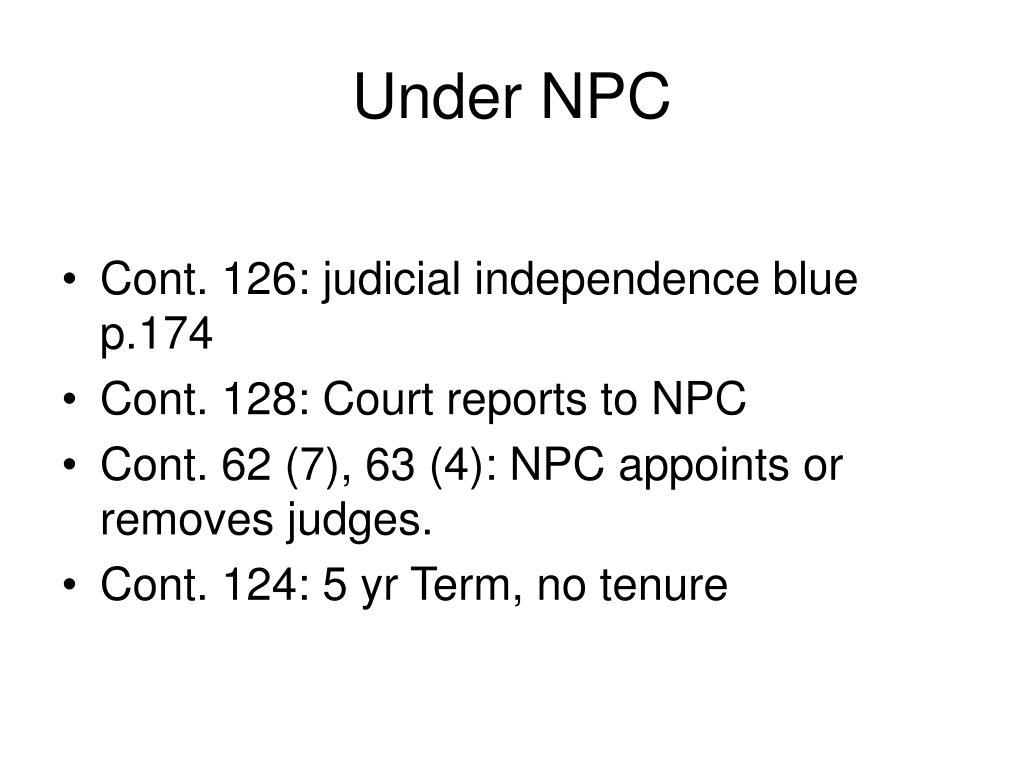 Under NPC