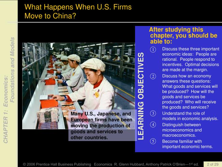 What happens when u s firms move to china