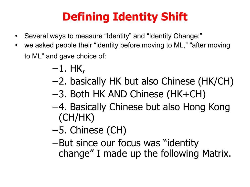 Defining Identity Shift