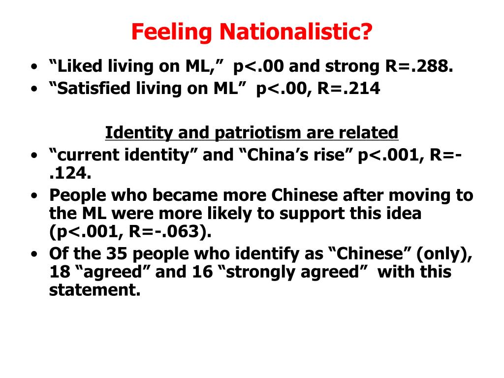 Feeling Nationalistic?