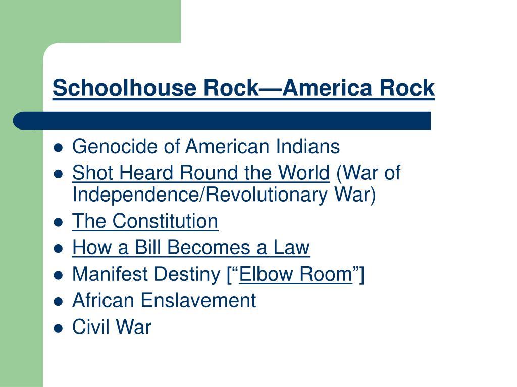Schoolhouse Rock—America Rock