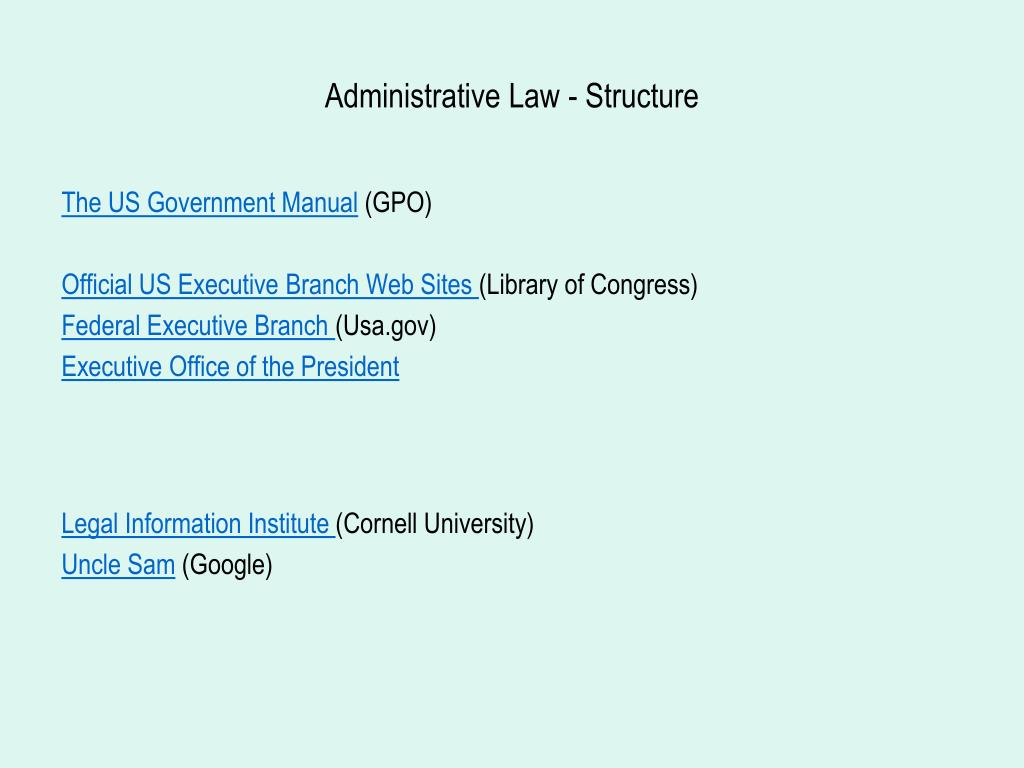 Administrative Law - Structure