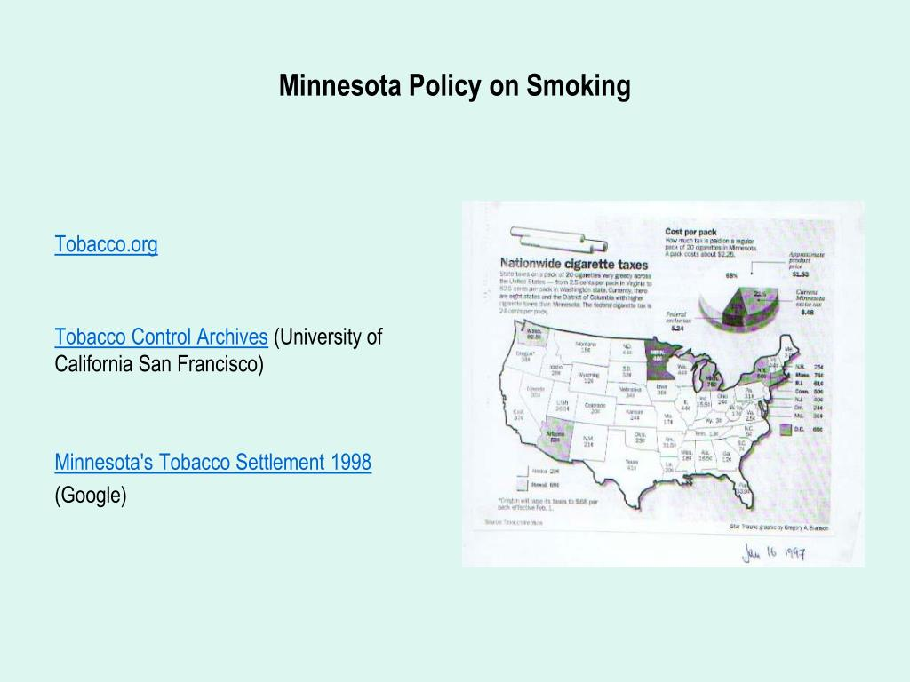 Minnesota Policy on Smoking