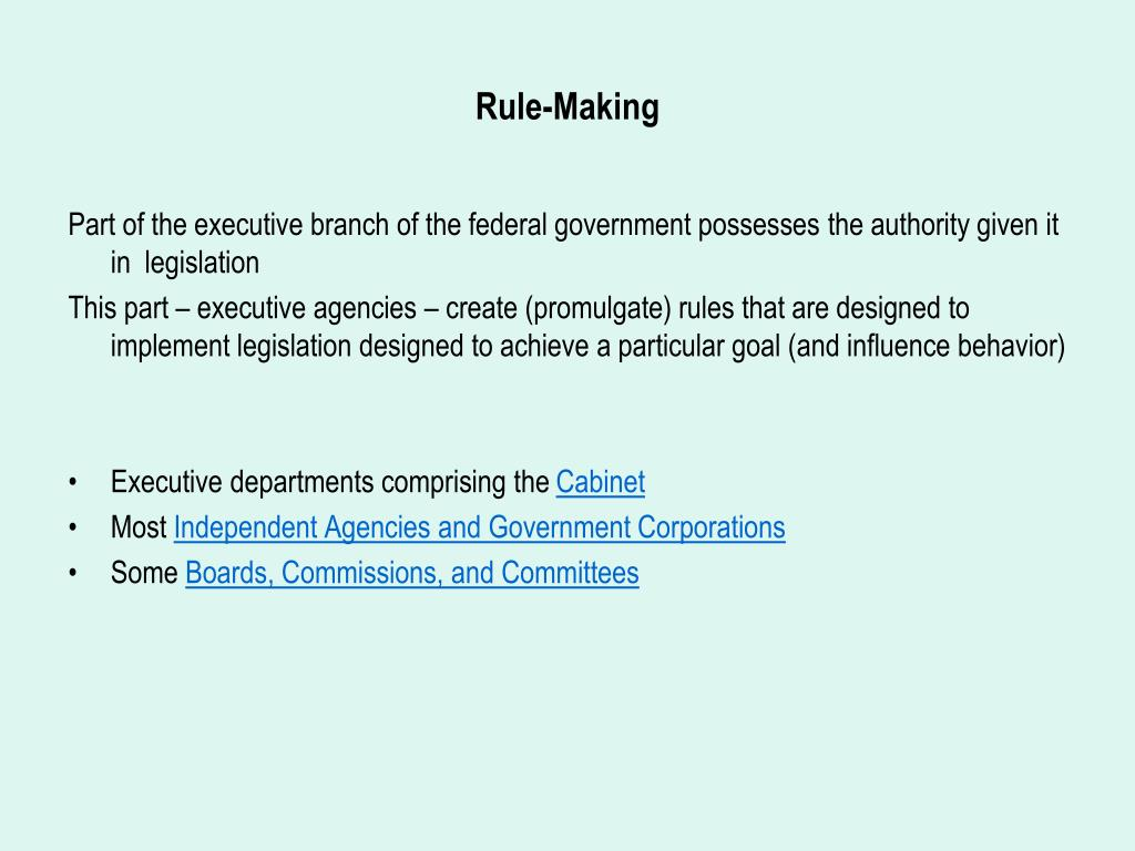 Rule-Making