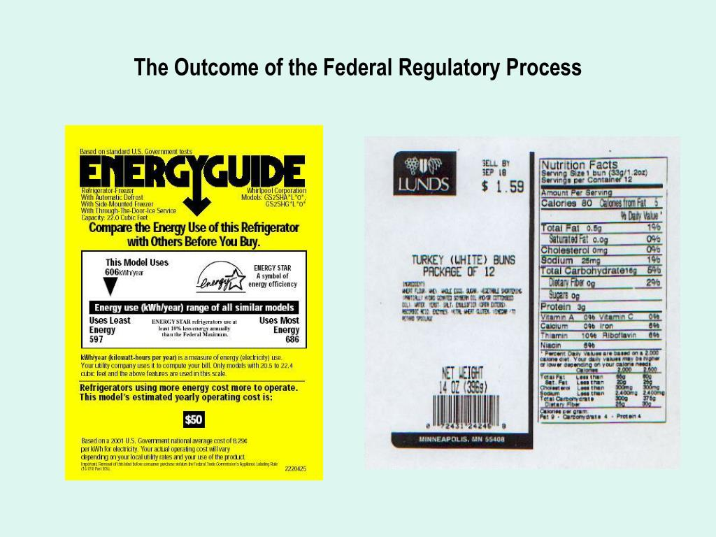 The Outcome of the Federal Regulatory Process