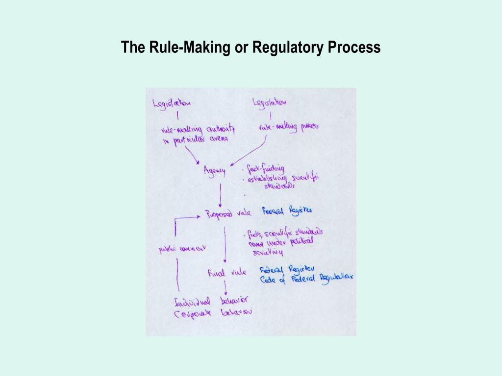 The Rule-Making or Regulatory Process