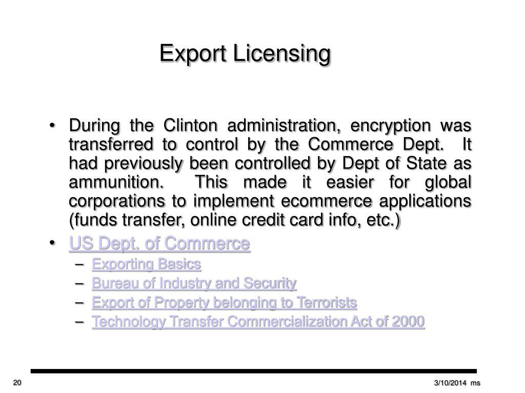 Export Licensing