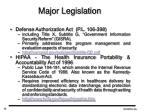 major legislation12