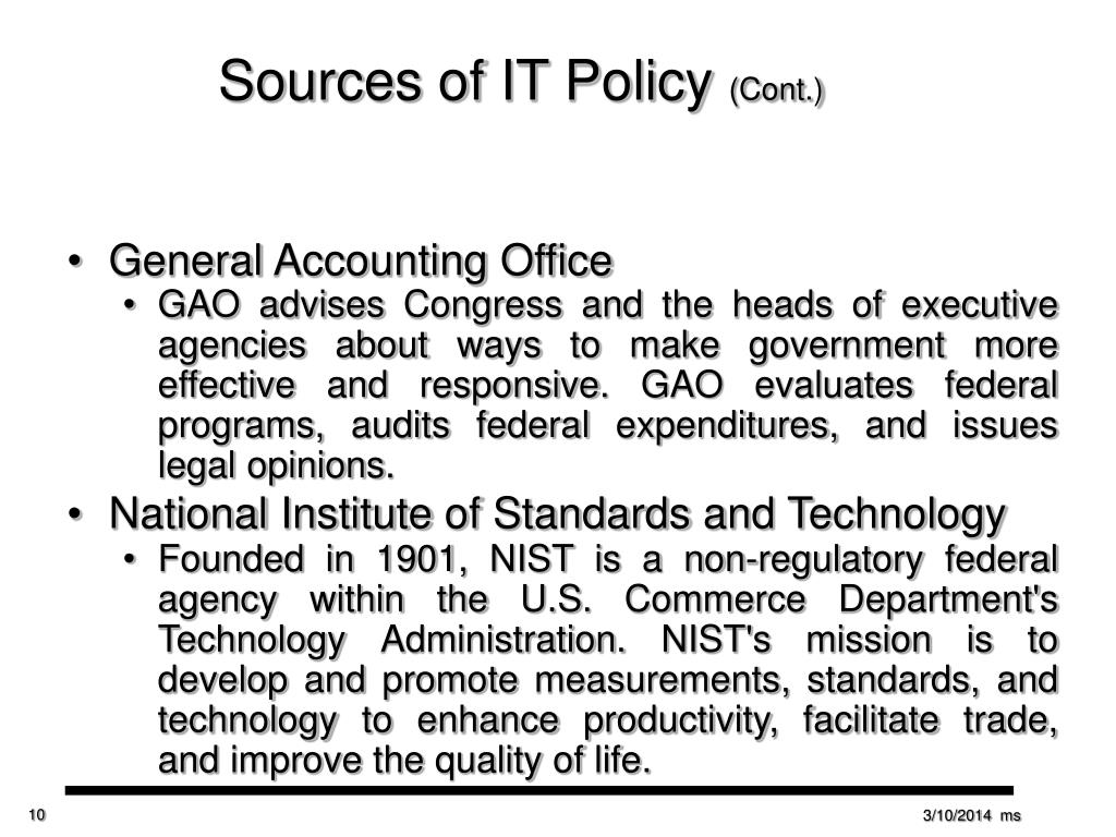 Sources of IT Policy