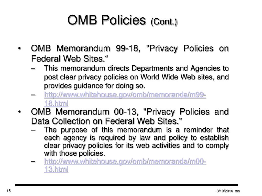 OMB Policies