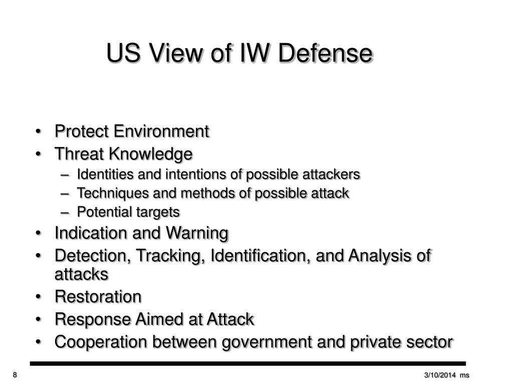 US View of IW Defense