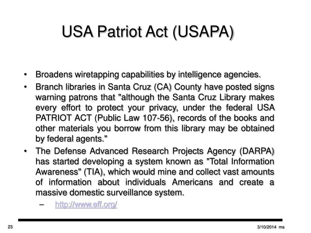 USA Patriot Act (USAPA)