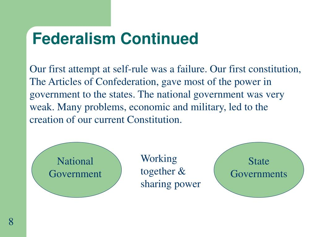 Federalism Continued
