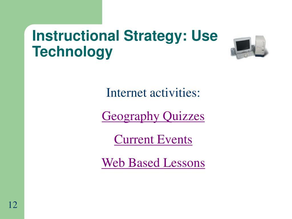 Instructional Strategy: Use Technology