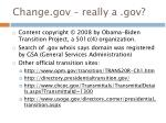 change gov really a gov