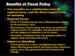 benefits of fiscal policy