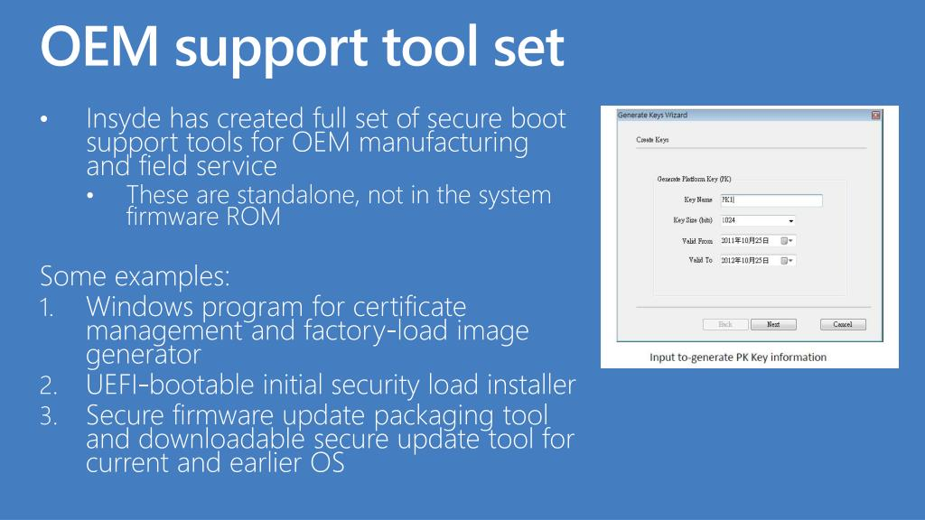 OEM support tool set