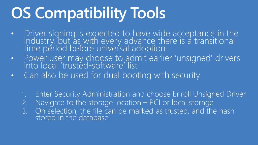 OS Compatibility Tools