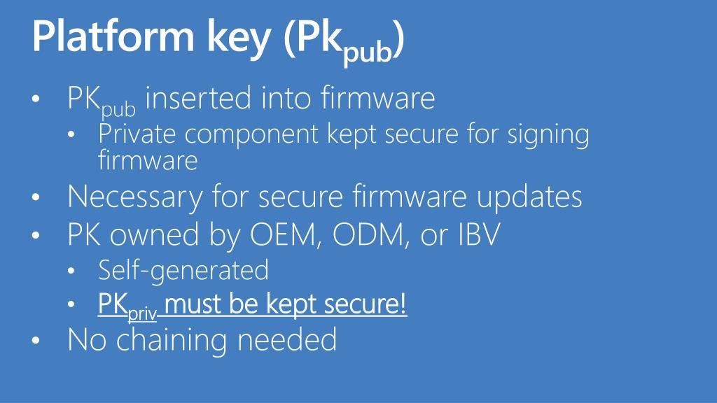 Platform key (Pk