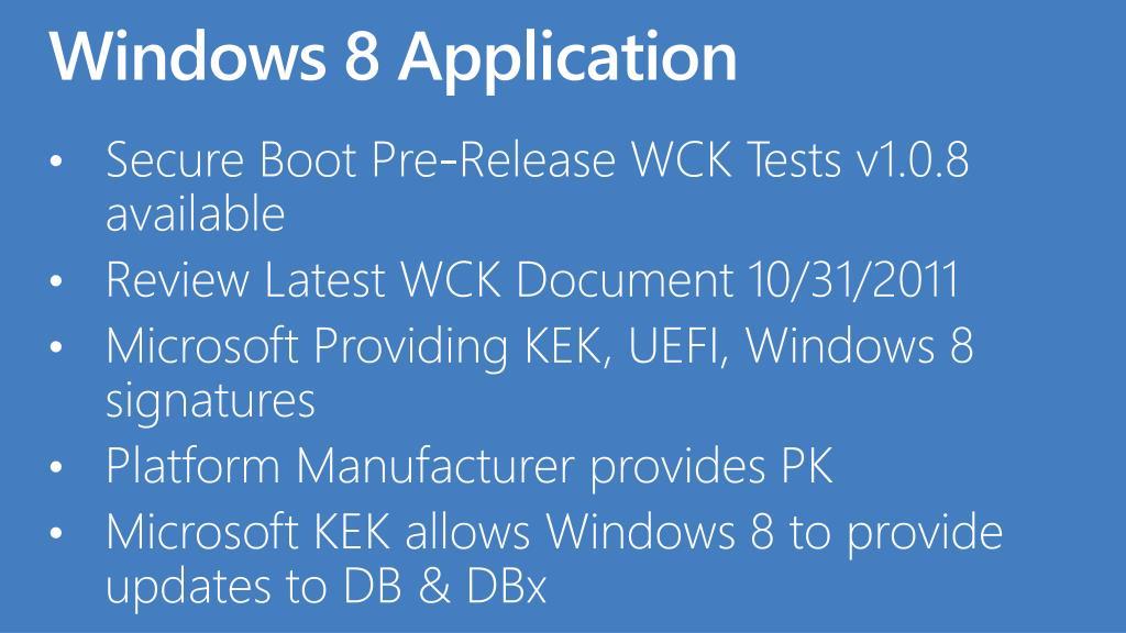 Windows 8 Application