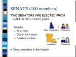 senate 100 members
