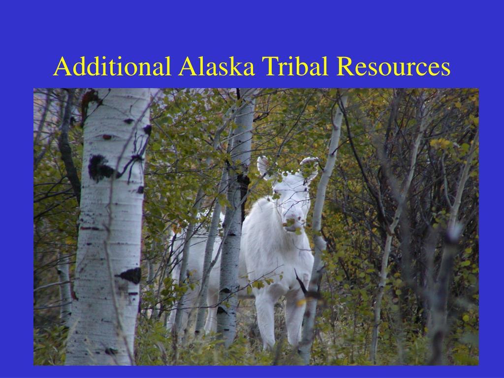 Additional Alaska Tribal Resources