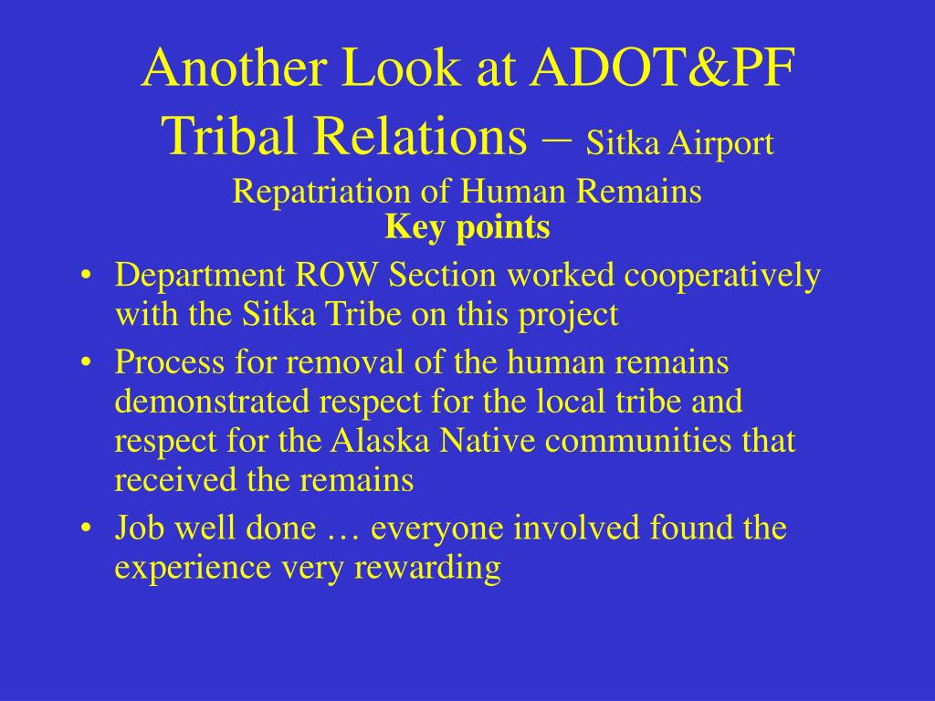 Another Look at ADOT&PF Tribal Relations –