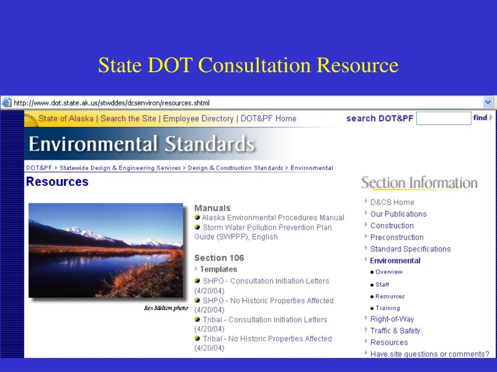 State DOT Consultation Resource