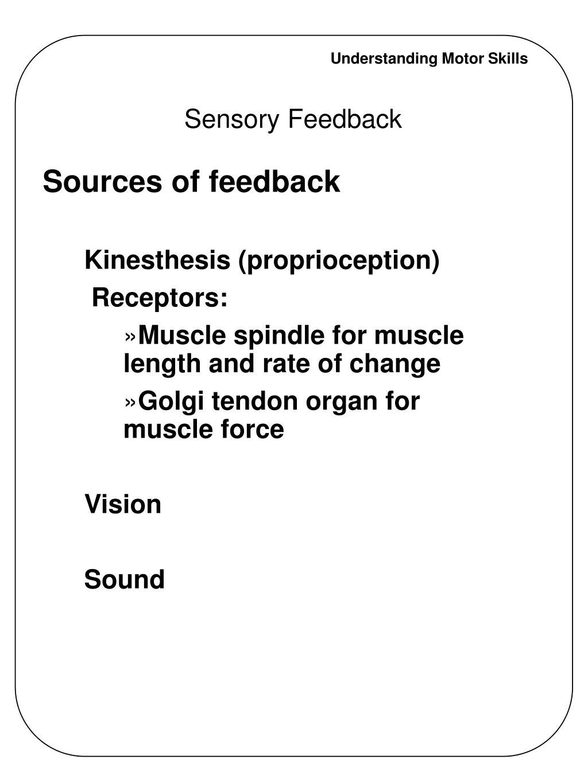Sensory Feedback