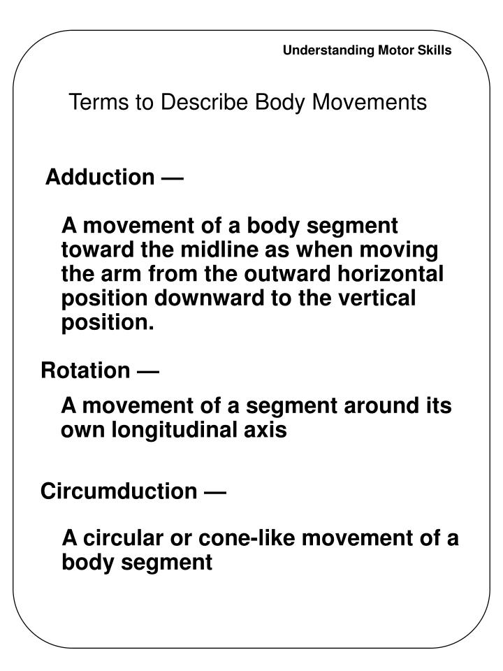 Terms to describe body movements3 l.jpg