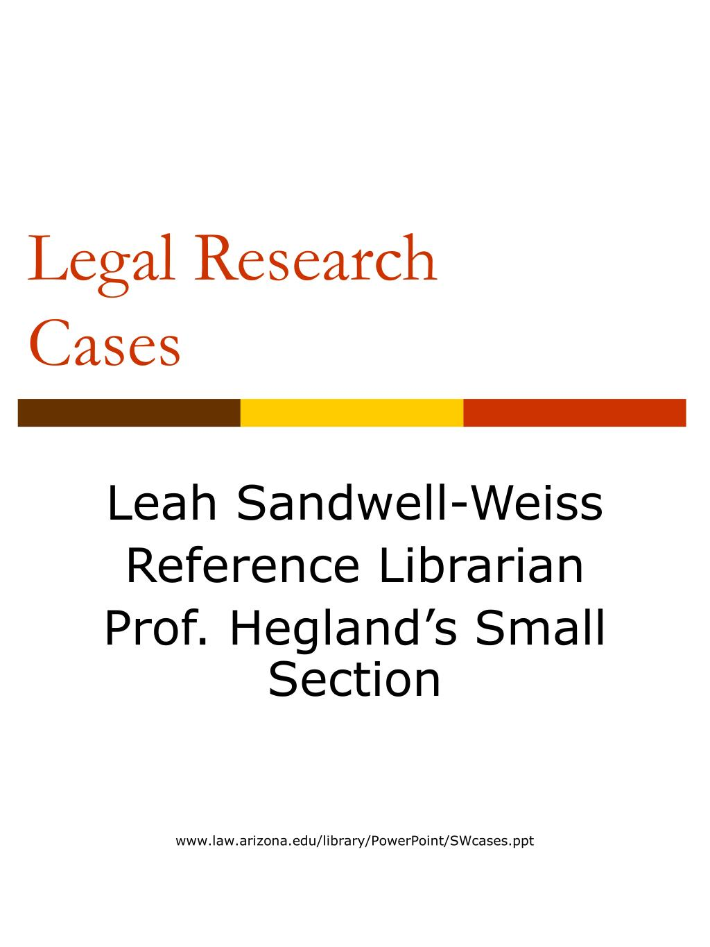 legal research cases