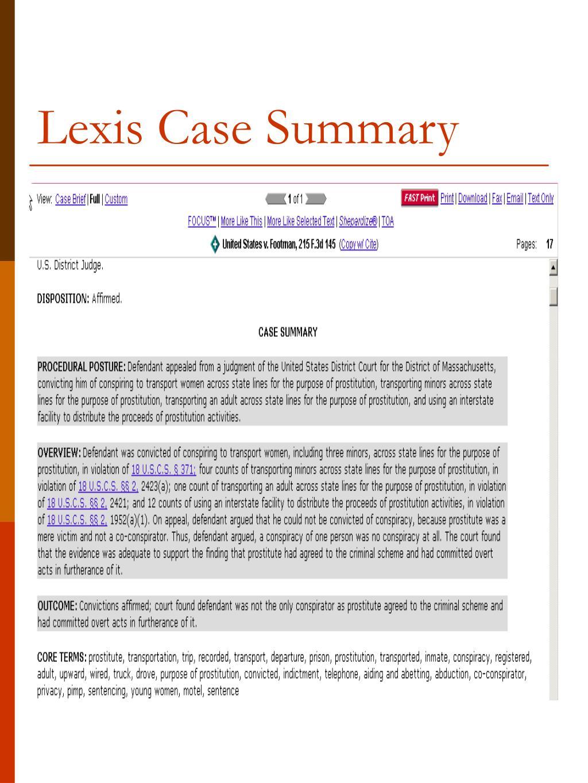 Lexis Case Summary