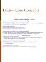 lexis core concepts