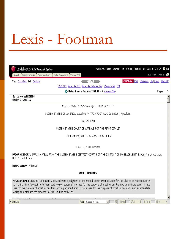 Lexis - Footman