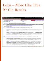 lexis more like this 9 th cir results