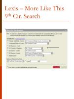 lexis more like this 9 th cir search