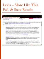 lexis more like this fed state results