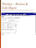 westlaw browse edit digest
