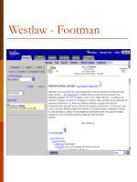 westlaw footman