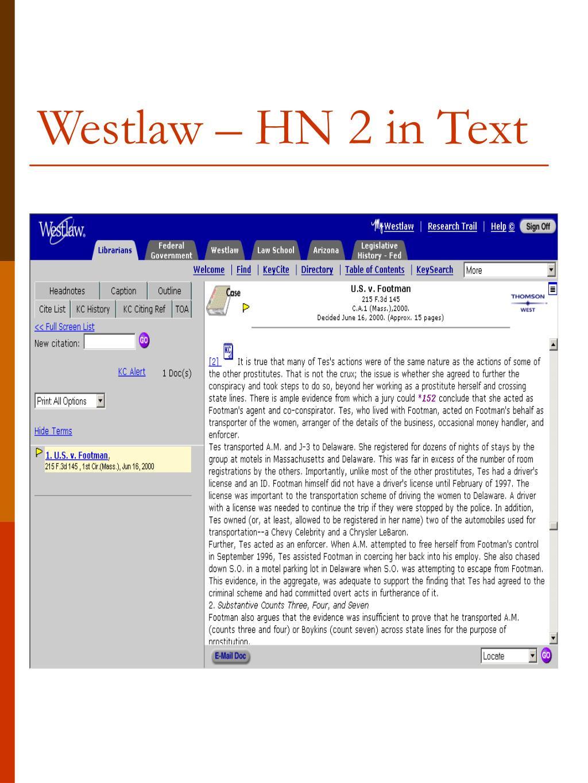 Westlaw – HN 2 in Text