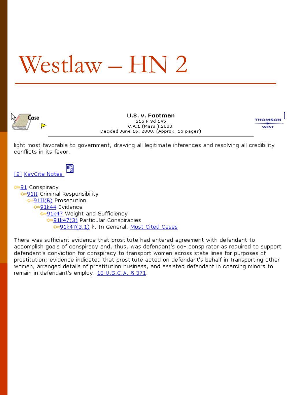 Westlaw – HN 2