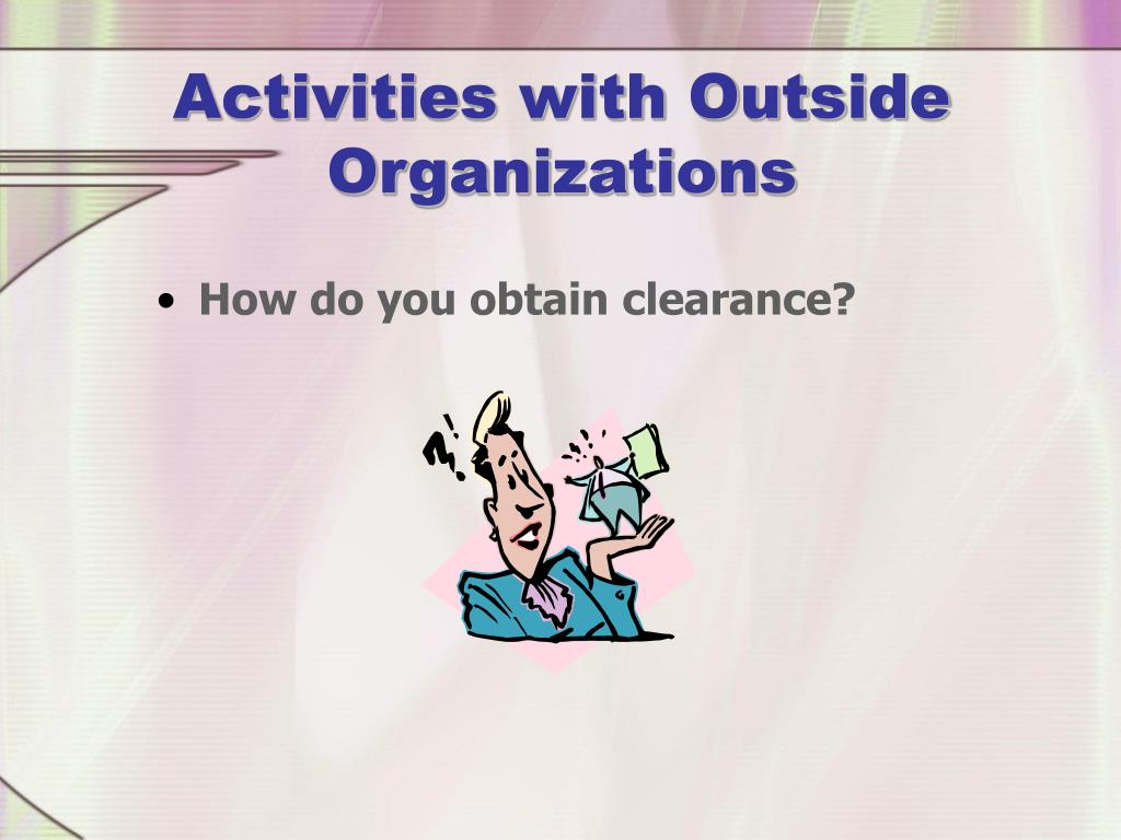 Activities with Outside Organizations