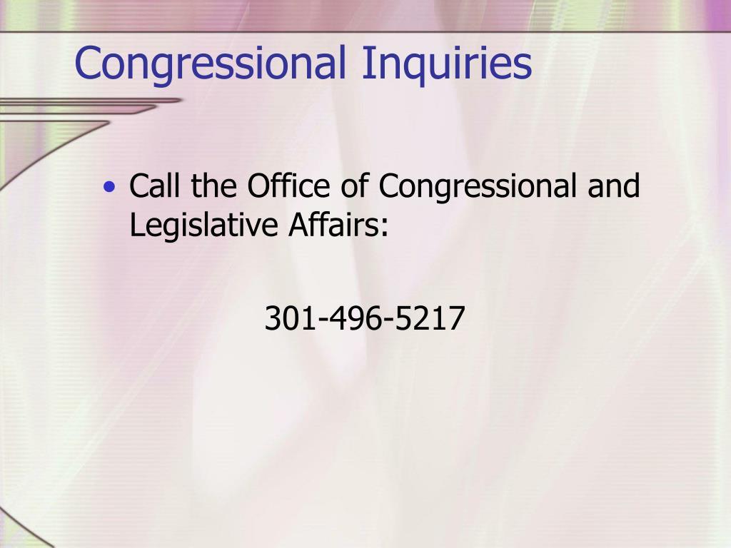 Congressional Inquiries