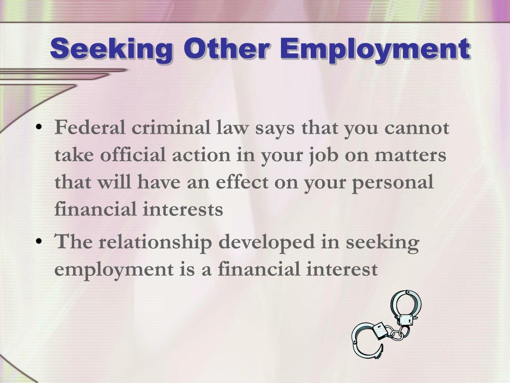 Seeking Other Employment