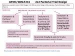 meoc gog 241 2x2 factorial trial design