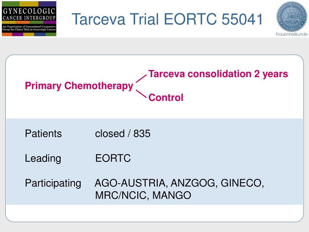 Tarceva Trial EORTC 55041