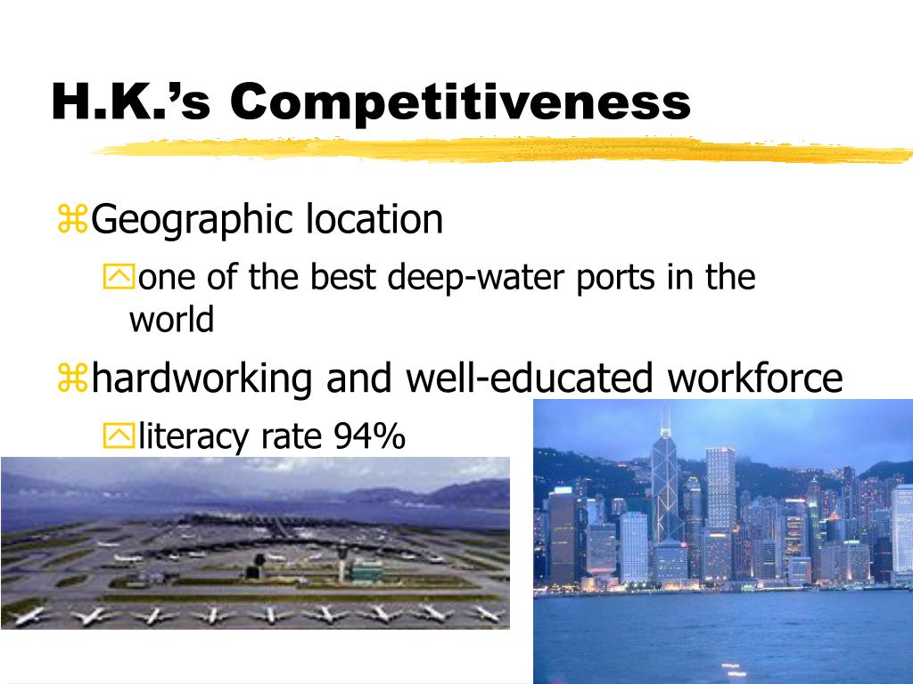 H.K.'s Competitiveness