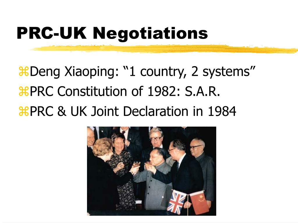 PRC-UK Negotiations