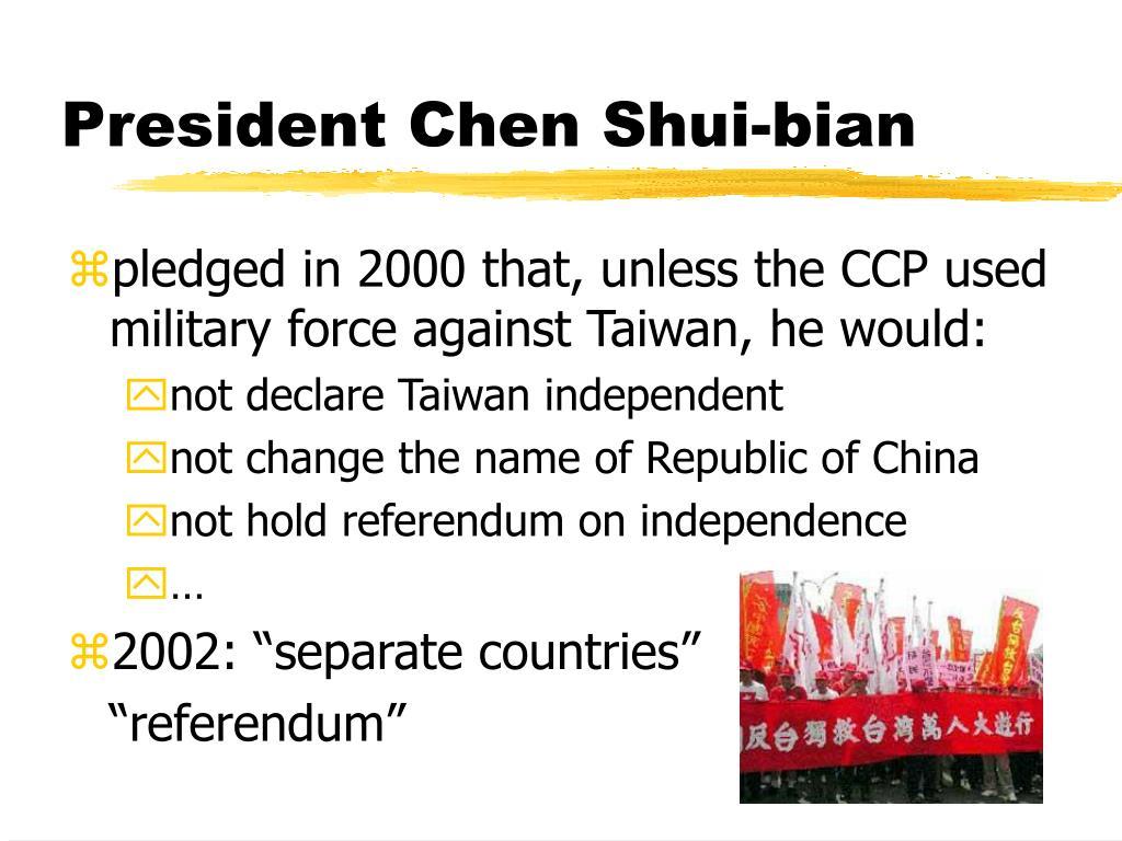 President Chen Shui-bian